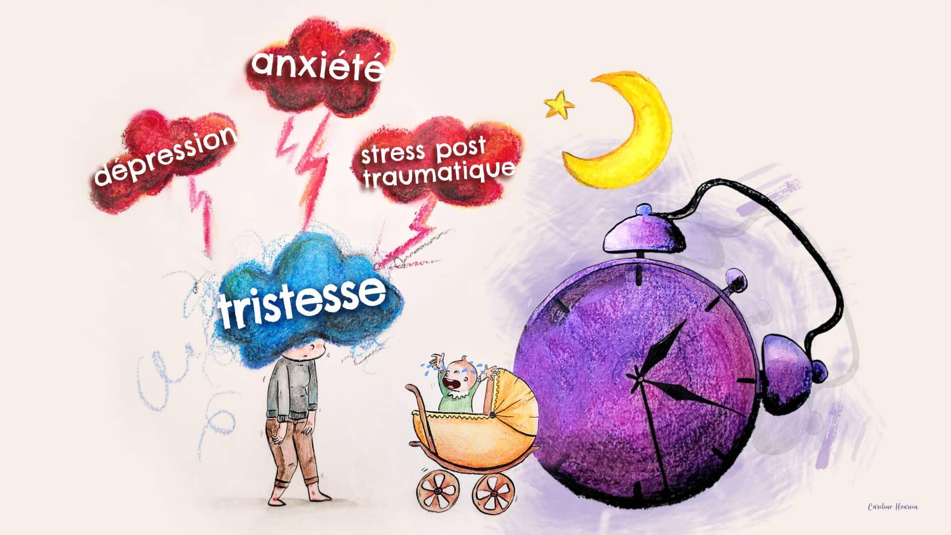 dessin sur l'accouchement traumatique